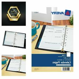 Avery 14825 Mini Monthly and Weekly Calendar Blank Pages 5.5
