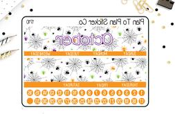 1710~~October  Monthly View Planner Stickers.