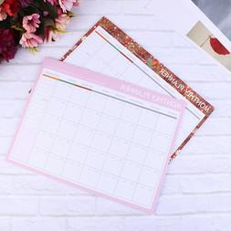 2 Pcs Mothly Plant Memo Tearable To-do List Notebook Notepad