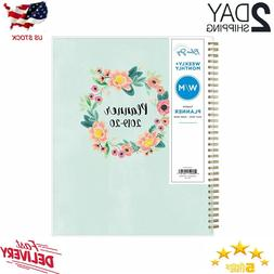 Blue Sky 2019-2020 Academic Year Weekly & Monthly Planner, F