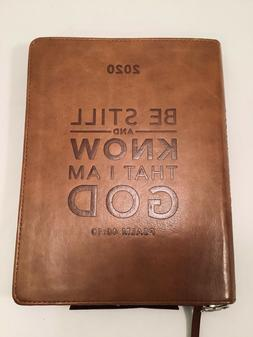 """2019-2020 Planner Zipper Be Still know I am God"""" Leather Chr"""