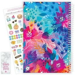 2020-21 Soft Cover Academic Daily Planner Calendar, Floral J
