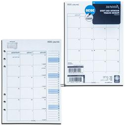 2020 Filofax A5 Size Refill 20-68510 C68510, Month On Two Pa