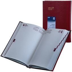 2020 Brownline CB389.RED Daily Planner Diary, Hard Cover, 8-