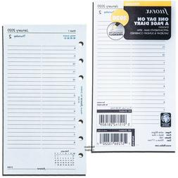 2020 Filofax Personal Size Diary Refill 20-68441 One Day On