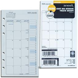 2020 Filofax Personal Size Refill 20-68410 Month On Two Page