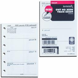 2020 Filofax Pocket Size Refill 20-68221 Week On Two Pages,