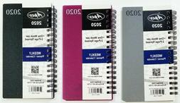 2020 Weekly/Monthly Pocket size Spiral planner, Vinyl Cover,