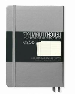 2020 Leuchtturm1917 Weekly Planner and Notebook Silver Hard