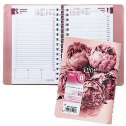 """2021 Brownline CB634W.PNK Pink Daily Planner, 8 x 5"""""""