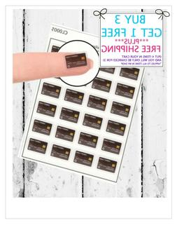 24 CREDIT CARD Planner Stickers  Mini Stickers to fit any Pl