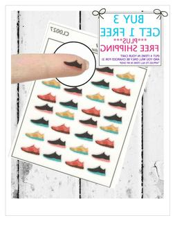 32 Shoe Planner Stickers  Clear Mini Stickers Running or Wal