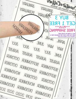 4 years worth Planner Stickers  Clear Mini Stickers Months o
