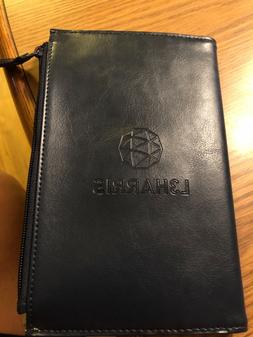 5x8 Leather Padfolio with zippered Pouch