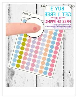 99 Colorful Dots Planner Stickers  Mini Stickers fit any Pla