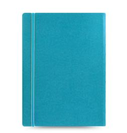Filofax A4 Size Refillable Leather-Look Ruled Notebook Noted