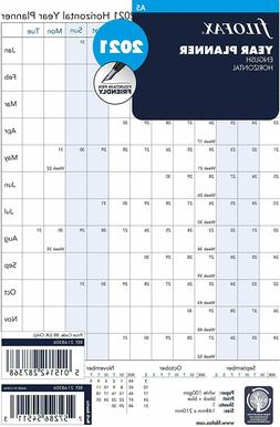 Filofax A5 Size Horizontal Year Planner 2020 Refill Insert 2