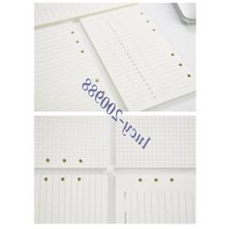 A6 Refillable Pages Organizer Binder Planner Refill Paper Fi
