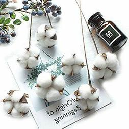 Artificial Flowers 10 Pack Cotton Boll Wire Iron Stem DIY Ar