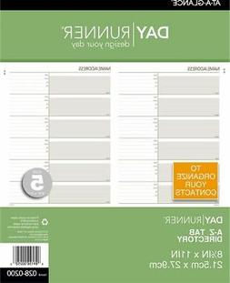 AT-A-GLANCE Telephone-Address A-Z Planner Tabs Size 5 - Tele