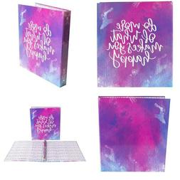 """Bloom Daily Planners Binder  3 Ring Binder  1 Inch Ring  10"""""""