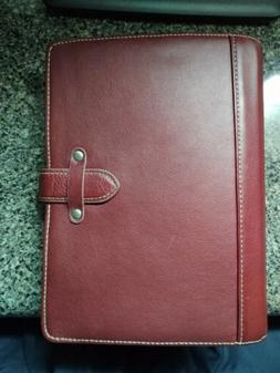 Franklin covey Classic Leather Binder w/ Extras
