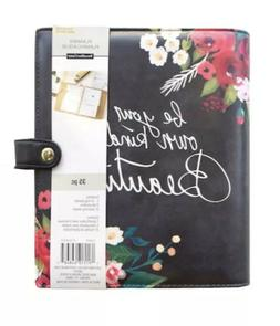 Creative Year Recollections Black Floral 6 Ring Binder Plann