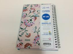 Blue Sky CYO Weekly/Monthly Planner, 5x8, Garden Flower, 202