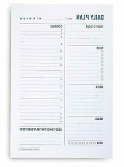 Daily to Do List Planner Notepad - Desktop Planning Pad with