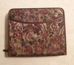 Franklin Covey Floral/Tapestry Binder Planner w/ lots of ext