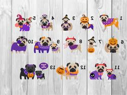 Halloween Pug Planner Stickers- Perfect For Any Planner- Eri