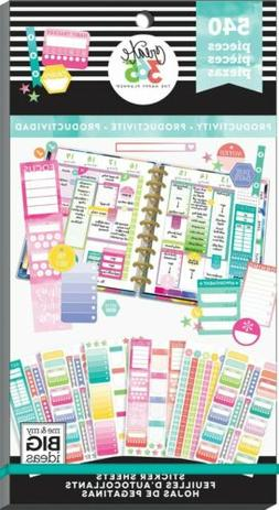 Happy Planner Sticker Value Pack-Productivity Fill-In, 540/P