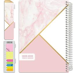 HARDCOVER Academic Planner 2019-2020 5.5x8 Daily Weekly Mont