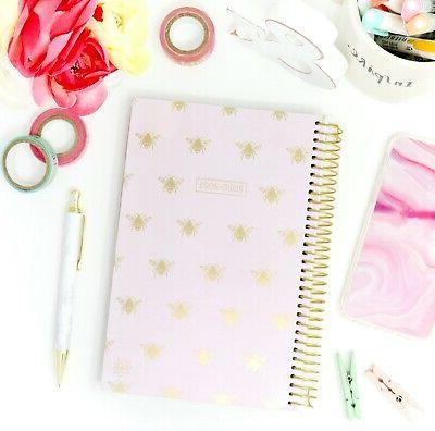 2020-21 Soft Daily Planner Calendar, Bees bloom