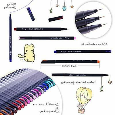 65 Pens Colored Assorted Pens with