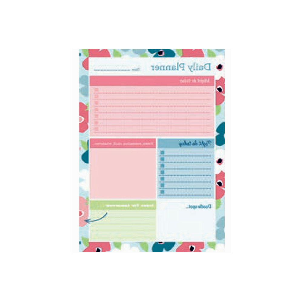 A5 Collins Blossom Daily Desk Pad Planner Contains 60 Sheets