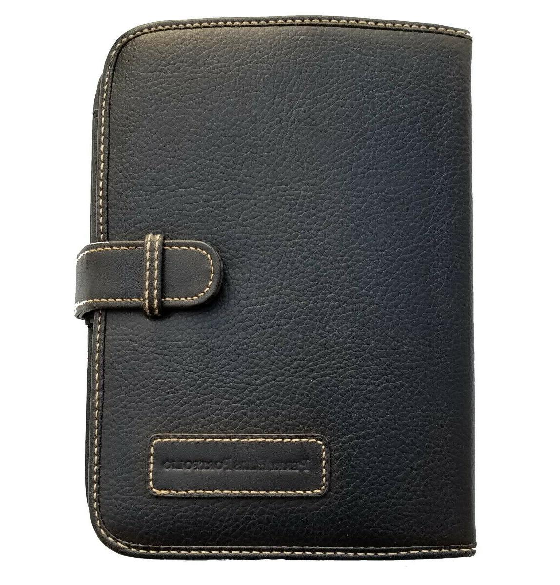 leather expandable personal organizer planner