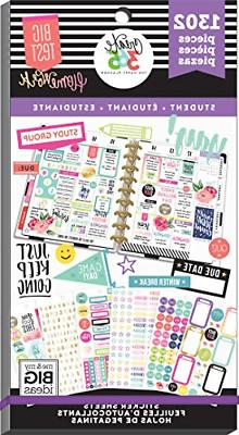 Me & My Big Ideas The The Happy Planner Value Pack Stickers,