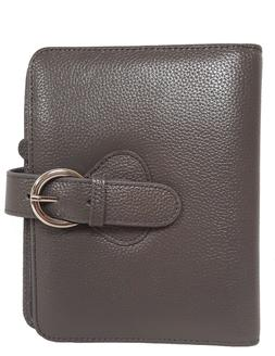 """Franklin Covey Leather""""Ava"""" Compact Binder, Charcoal"""