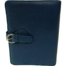"""Franklin Covey Leather """"Ava"""" Binder Classic - Teal"""