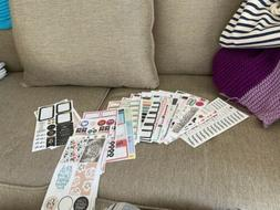 Lot Of Loose Happy Planner Sticker Pages Great variety