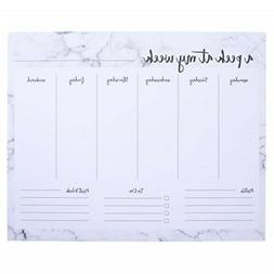 Graphique Marble Weekly Notepad - Weekly Organizer Notepad w