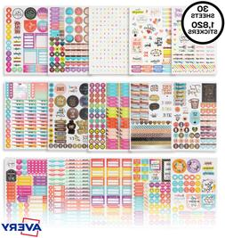 Avery Mom Planner Stickers Pack, 1,820 Sticker 30 Sheets, Pe