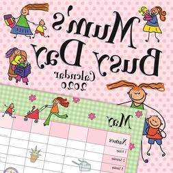 Mum's Busy Day 6 Name Column Planner - 16 Month 2020 Square