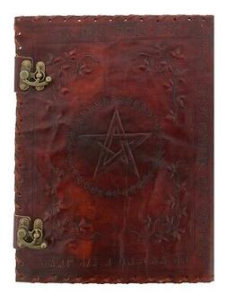 Nemesis Notebook Large Lockable Leather Book of Shadow Red 2