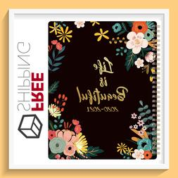 """NEW Academic Weekly & Monthly Planner 8"""" x 10"""" with Floral C"""