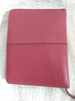 """FRANKLIN COVEY ~ Pink Rasberry LEATHER 1.75""""- Rings  ~ Plann"""