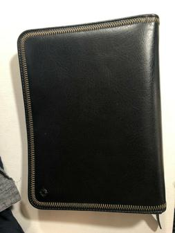 Franklin Covey Planner Cover 1.5 ring black zip around 7 rin