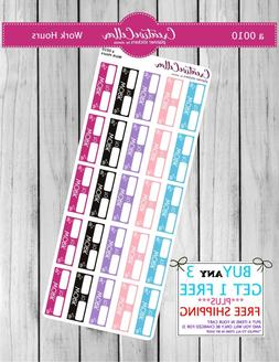 Planner Stickers  Functional Icons 25 Work Hours Stickers, f