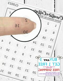 Planner Stickers  62 Number Circles Mini Stickers fit any Pl